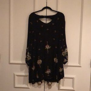 XS Black Longsleeve Free People Dress